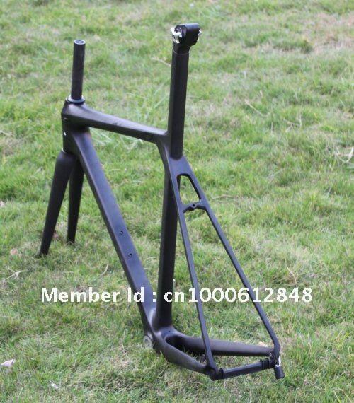 Cool Carbon Road Bicycle Frame 54cm 3K Weave Matt Finish ENG BSA Bottom Bracket + Front Fork + Fixed Seat Port Streamline Design(China (Mainland))