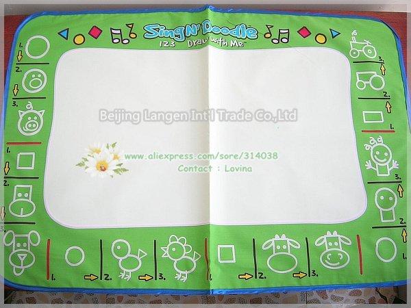 Free ship 1 piece Mat+ 1 Pen size 80*50 CM American Aquadoodle Aqua Doodle Mat&1 Magic Pen/Water Drawing Replacement(China (Mainland))