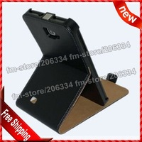 Galaxy Note i 9220 stent Real Leather, Flip Genuine Leather Case cover For Samsung Galaxy Note i9220 Free Shipping