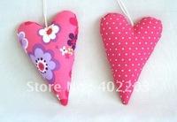 home decor-heart hanger-fabic heart hanger-stuff heart hanger-pink style-pink colours-4colours-free shipment