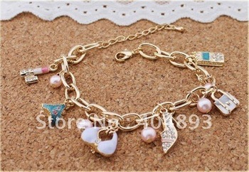hot  jewelry  fashion long handmade alloy chunky charm necklace