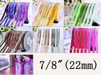 "Free Shipping 7/8""(22mm) Double Face Satin Ribbon Bow Gift Wrapping Ribbons 100yard/set"
