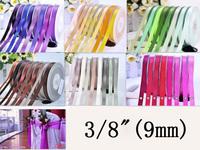"3/8""(9mm) Double Face Satin Ribbon fita de cetim decoradas DIY Satin 100yard/roll"