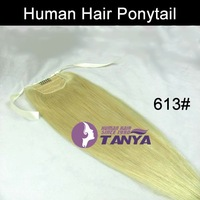Human Hair Ponytail Extension 613# Bleach Blonde 16/20/24inch 100g/piece 100% Real Human Hair Accept Custom Order Free Shipping