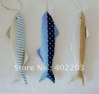 home decor-fabic fish--nautica style-fabic and stuff-fabic decorations-4designs asst-12pcs/lot