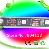 free shipping  WS2801 LED strips, 32LED+32IC(WS2801), 5VDC, wateproof  IP65
