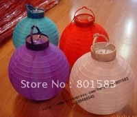 15 pcs /lot , wholesale free ship chinese battery paper lanterns ,8 inch size,room decration , 20 cm!