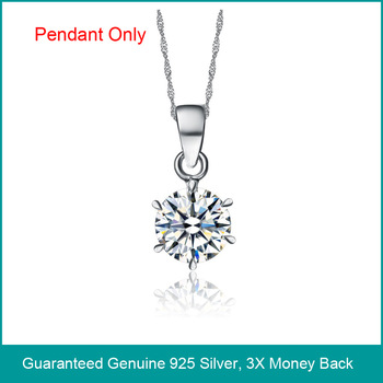 Wholesale & Retail for 925 Sterling Silver white Cubic Zirconia Pendant, Sterling Silver zircon pendant, Top Quality!! (C1157)