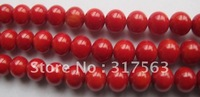 Loose Beads,Wholesale Red Coral 12 mm Round Gemstone Loose Beads.40 cm strand.Free shipping+free customer logo