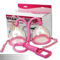 Dual cups breast enlargment breast pumps,two flanged cups for superior suction to enlarge breasts