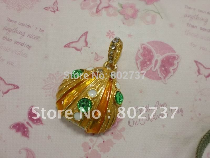 Shell shape noble golden jewelry thumb drive free shipping(China (Mainland))