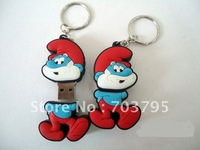 New Arrival! 1pc/lot FREE SHIPPING smurfette smurf cartoon USB flash drive  2G 4G 8G Christmas gift