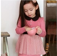 2012 hot sale  wholesale - Girls Dress baby dress Children dress long sleeve girl dresses baby clothes