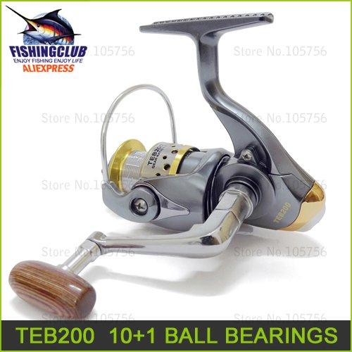 3PCS fishing reels free shipping new plastic fishing reel 10+1 Ball bearing spinning reels 5.1:1 fishing tackle TEB200 wholesale(China (Mainland))