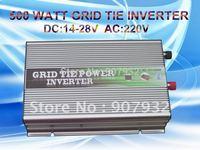 500w Grid Tie Inverter for Solar Panel (500 watt, 14V-28V DC, 220V AC, high quality, free shipping)