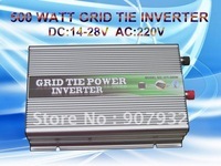 500w Grid Tie Inverter for Solar Panel (500 watt, 14V-28V DC input, 220V AC output, high quality, free shipping)