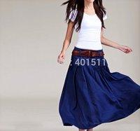 S0036 Custom made Free shipping high quality women's fashion long linen skirt A shape ,support drop shipping