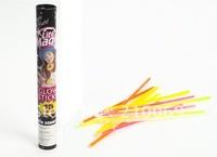 15pcs glow sticks+15pcs connectors in tube