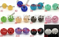12/14/16/20/25MM Mixed Color Mesh Balls, Metal Large Hole Round Mesh Spacer Beads,Fit For European Bracelets Jewelry Findings
