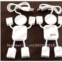 Wholesale-- Robot/White Man 4 Ports USB 2. 0 Hub (20pcs/lot)