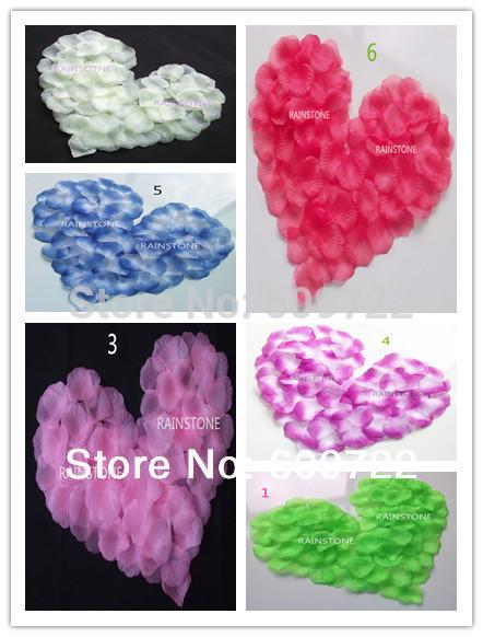 New Fabric Party Wedding Home Decoration Artificial Rose petals 6 Color FR006-12(China (Mainland))