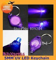 Drop Free Shipping Cheap UV Money Detector LED Keychain Light (50 packs)