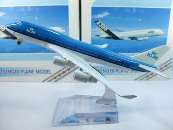 Free Shipping,Airlines plane model,   Dutch Airlines B747-400, 16cm, metal airplane models,airplane model