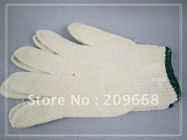 free shipping 1 dozen /lot 600g White Cotton Working Gloves safety gloves(China (Mainland))