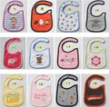 100pcs/lot toys/animals 100%cotton Handmade toddlers/baby cotton bib/burp cloths waterproof/cute/fashion/eco-friendly