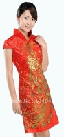 The value of cheongsam / Phoenix GOLD SEQUIN short / Dress / Chinese cheongsam / wind  8730