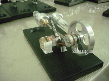 STIRLING ENGINE  WITH 4 LEDs/1500 RPM