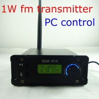 Freeshipping! NEW CZH  SDA-01A Professional PC Control FM Transmitter Radio broadcast station USB 76-108MHZ