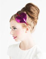 Fashion bando sequin heart headband hairband hair accessories wholesale multi-color for women