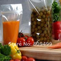 "100pcs 9x13cm=3.5x5"" Wholesale clear Transparent Ziplock Stand Up Bag Moisture Reclosable free shipping D010a-100"