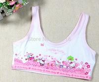 wholesale(12pcs/lot) Children/kids/girls cotton cartoon kitty/princess underwear/Camisoles Tanks/ Vest (sizes 70A/75A/80A)
