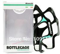 100% Original BIANCHI Limited Edition full carbon fibre bottle cages holders carbon bike accessories