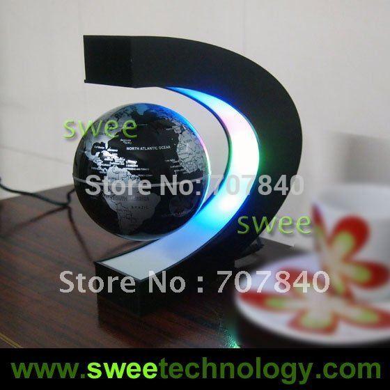 Electronic Magnetic Levitation Floating Globe Antigravity magic/novel light Christmas Gift Xmas Decoration Santa Decor Home(China (Mainland))