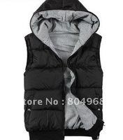 Cotton down vest both sides wore lovers for autumn and winter with free shipping
