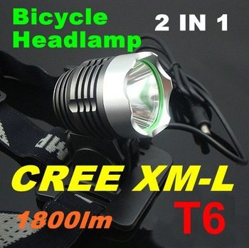 1800 Lumen CREE XM-L T6 LED Bicycle bike HeadLight Lamp Flashlight Light Headlamp 6400mAh 8.4v battery Charger