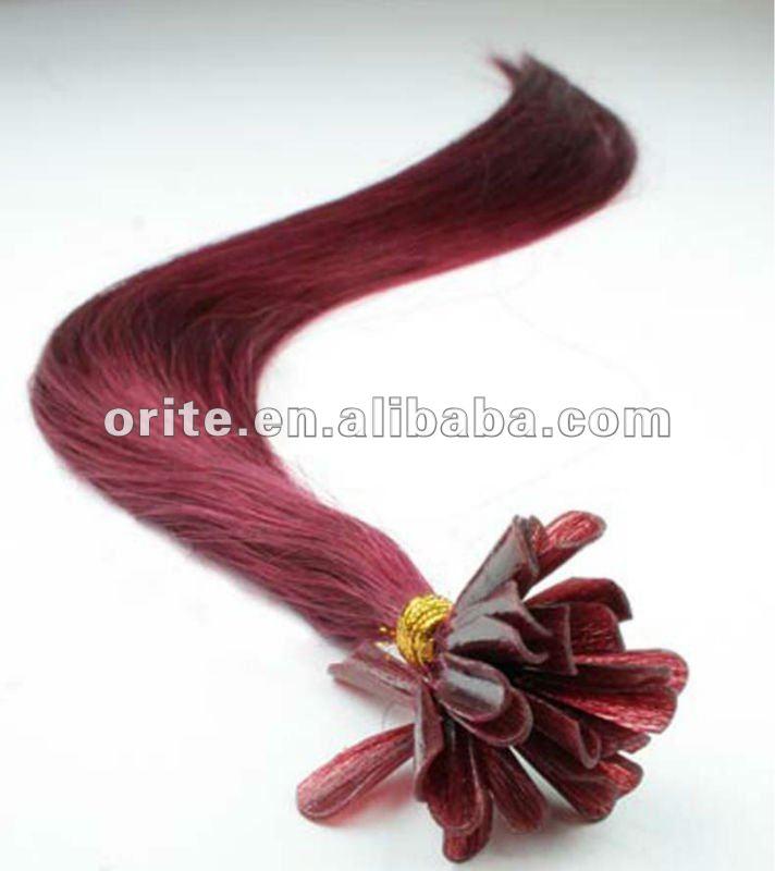 Pre bonded Brazilian hair U-tip Nail hair extension(China (Mainland))