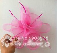Handmade mesh Flower Fascinator Hair Clip  wedding race/ Cocktail headpiece  (6 pieces/lot)