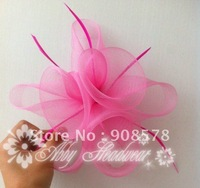 Handmade mesh Flower Fascinator Hair Clip  wedding race/ Cocktail headpiece  (6 pieces/lot)