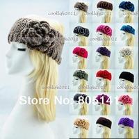 3 pcs/Lot New fashion Head Wrap Cap Hand Knit Crochet Cute Flower & Winter Headband  Hair Accessory