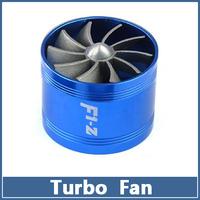 1pcs Universal Single Turbo Fan Supercharger Car Dual  F1-Z Air Intakes Fuel Gas Saver Propeller Turbonator ventilator booster