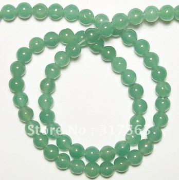 Natural Gem Stone Beads Green Aventurine 6 mm Round Gemstone Jewelry Beads 40 cm.Free shipping