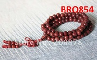 BRO854  Buddhist 108 Red Starmoon Lotus Bodhi seeds Rosary,8mm,wooden round Prayer Beads Mala Necklace
