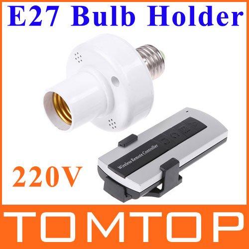 E27 bulb socket with10M Remote Control Light Lamp Bulb Holder E27 bases led light lamp socket(China (Mainland))