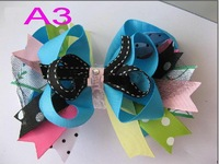 Free shipping 50pcs/lot baby girls cute boutique headband with bows hairbows grosgrain ribbon bow high quality D-27