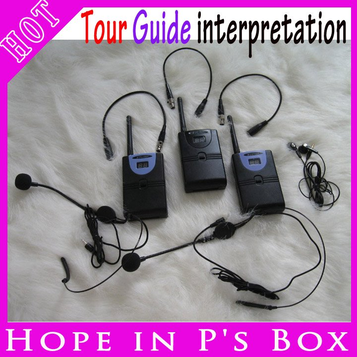DHL EMS Free Shipping 2.4G wireless tour guide system for teaching , conference, traning,Tourist Audio Guide(China (Mainland))