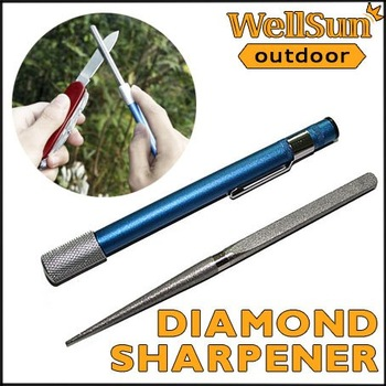 MOQ: 5pcs  Professional Diamond Grit Sharpener Pen-File Blade / Knife / Fish Hook /  Knife Sharpener For Camping #OT-012